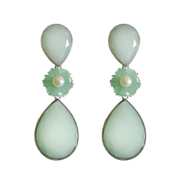 pendientes jade verde