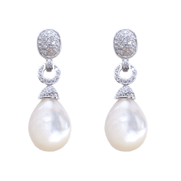pendientes novia perla