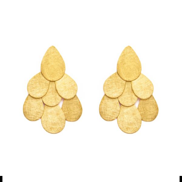 pendientes cascada dorados