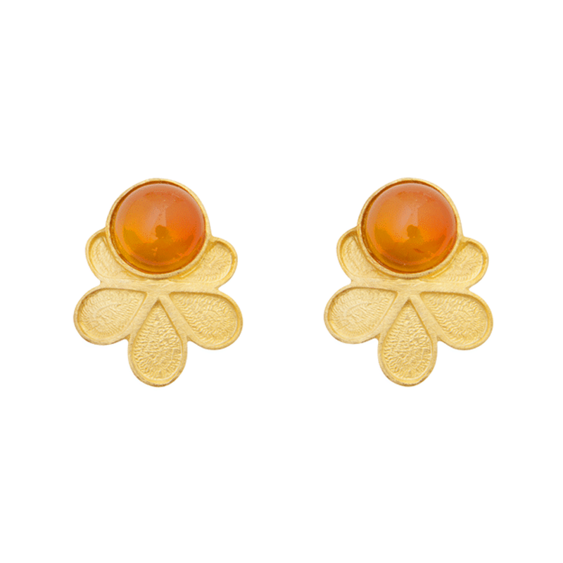 pendientes cornalina naranja