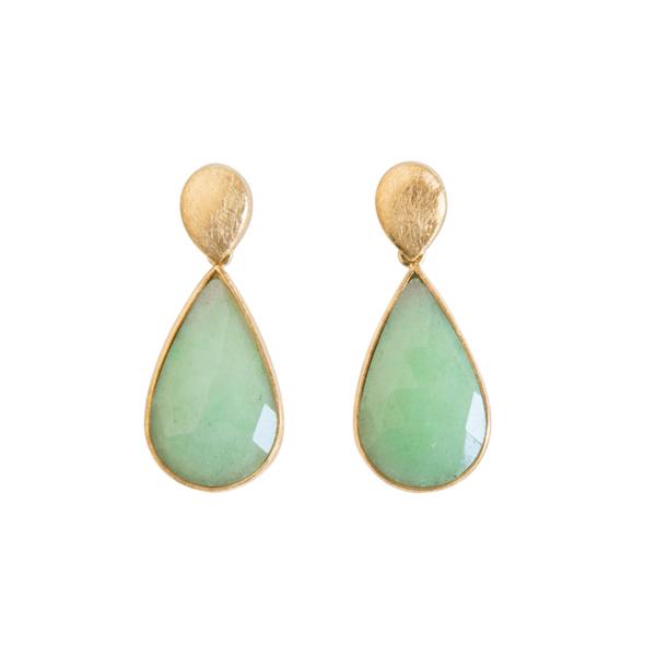 pendientes jade verde claro