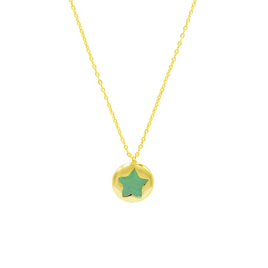 colgante estrella verde