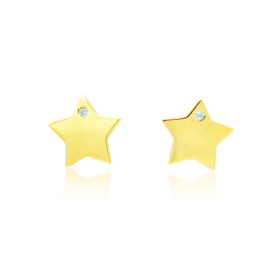pendientes estrella circonita
