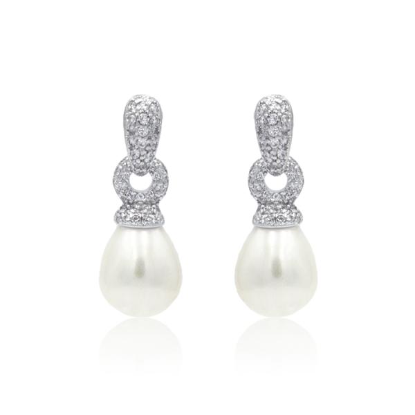pendientes de novia de perlas
