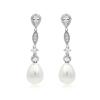 pendientes de perla novia