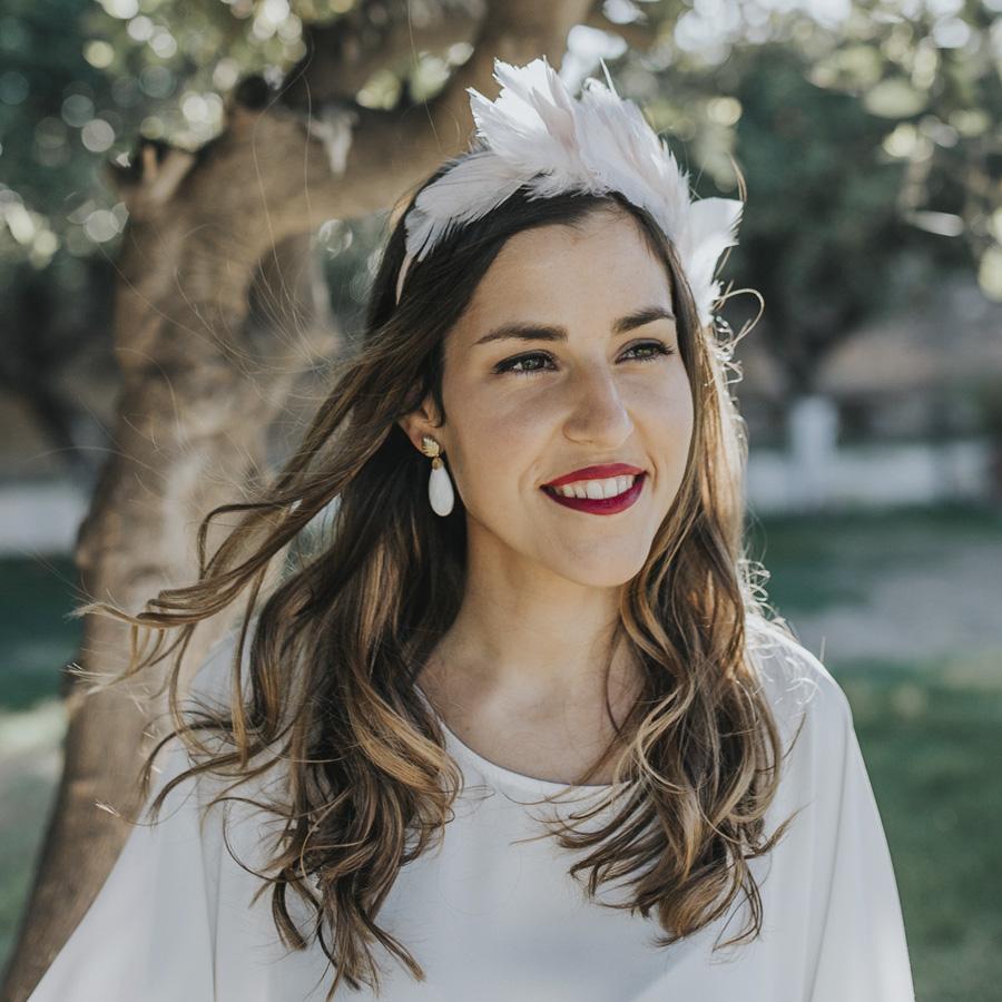 pendientes de novia blancos