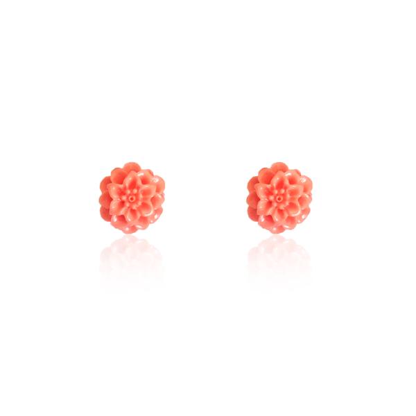 pendientes niña coral