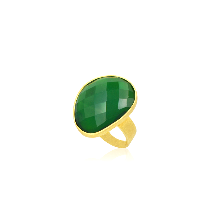 sortija calcedonia verde