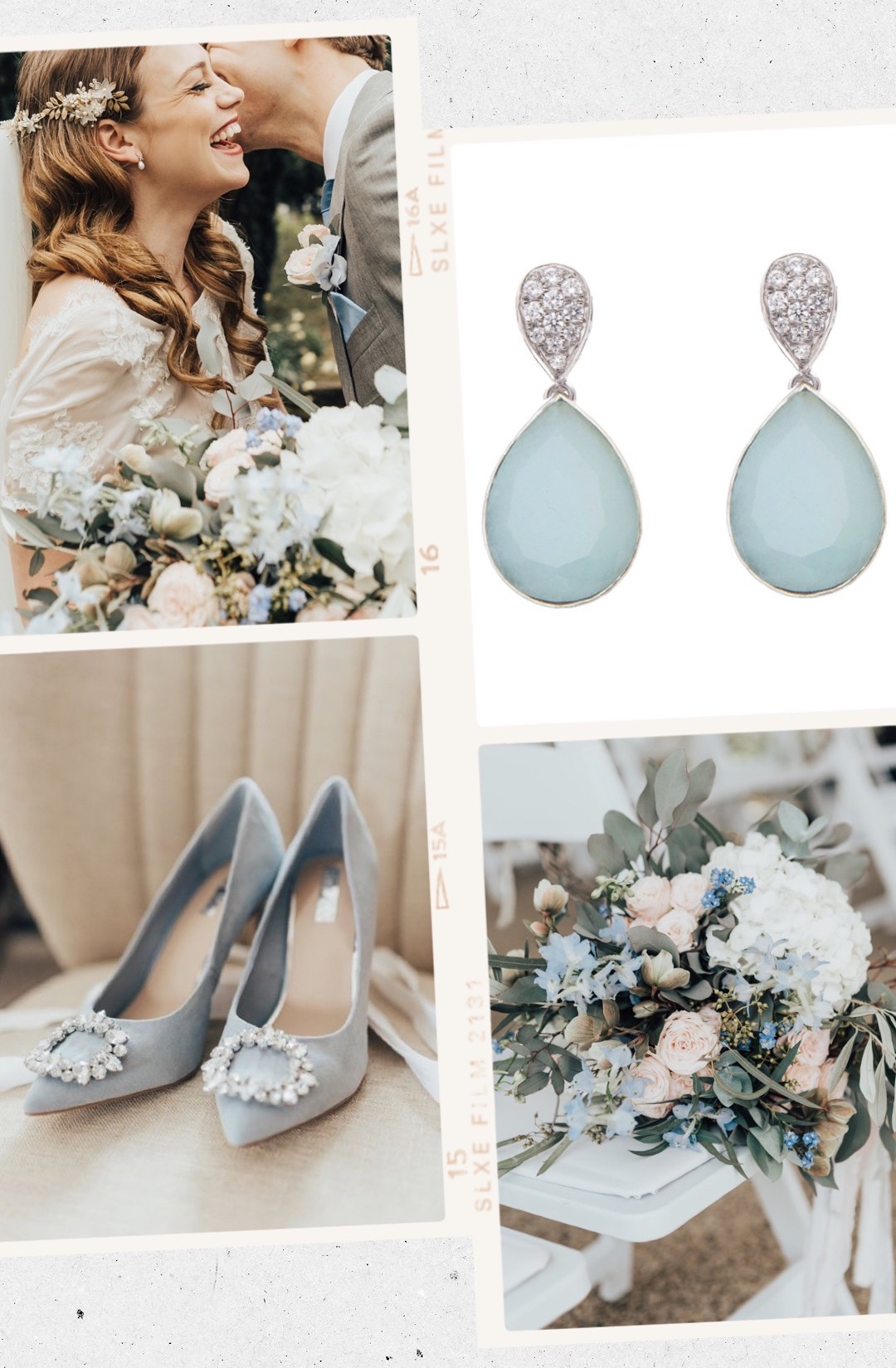pendientes de novia azules