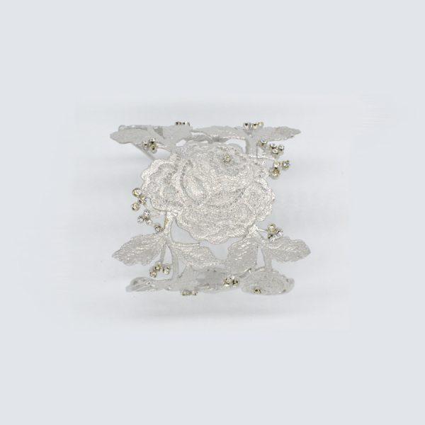 brazalete plata novia