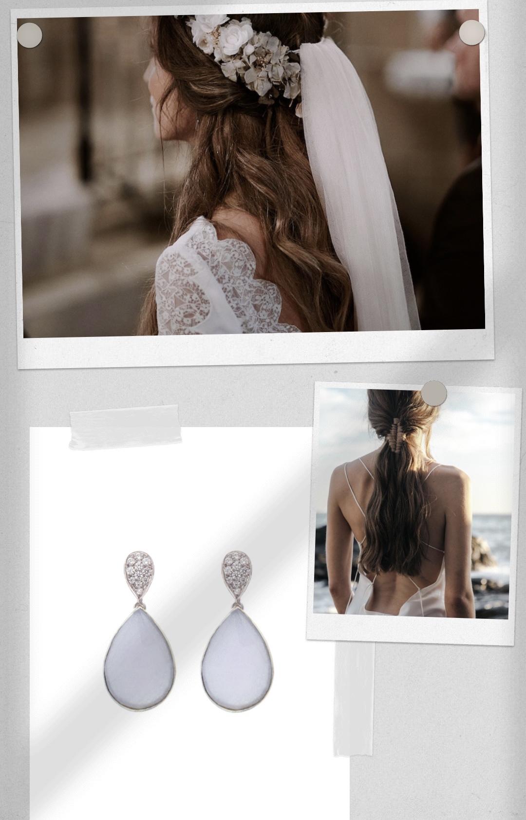 pendientes novia romantica